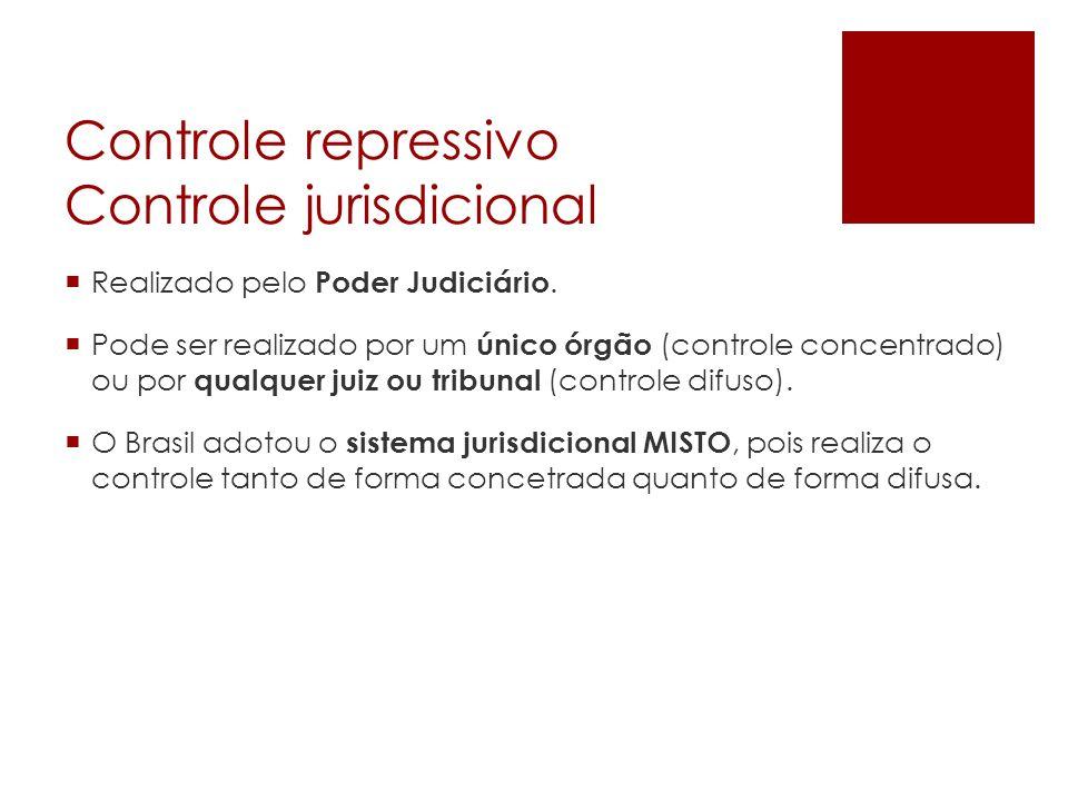 Controle repressivo Controle jurisdicional