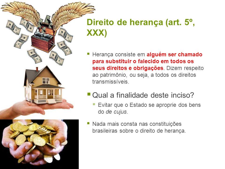 Direito de herança (art. 5º, XXX)