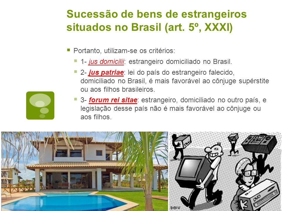 Sucessão de bens de estrangeiros situados no Brasil (art. 5º, XXXI)