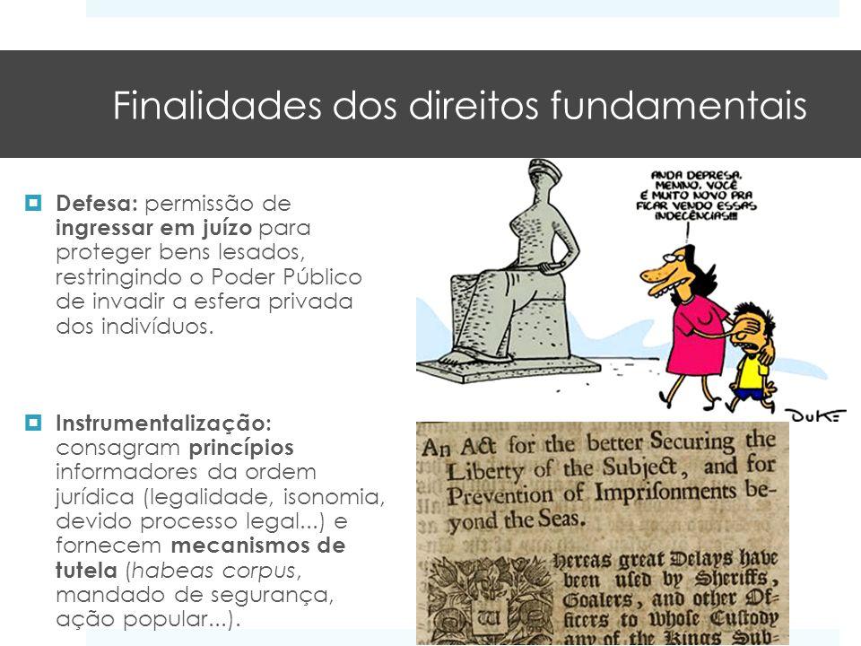 Finalidades dos direitos fundamentais