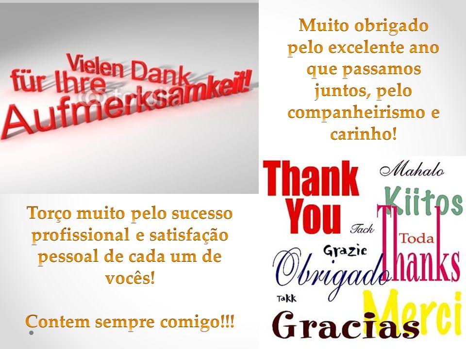 Muito obrigado pelo excelente ano que passamos juntos, pelo companheirismo e carinho!