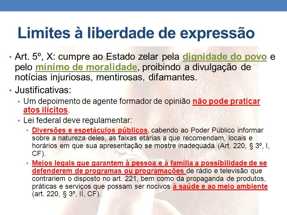 Limites à liberdade de expressão
