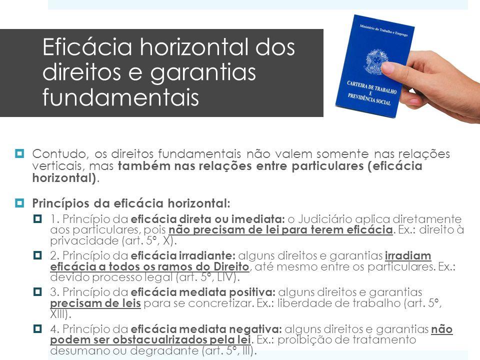 Eficácia horizontal dos direitos e garantias fundamentais