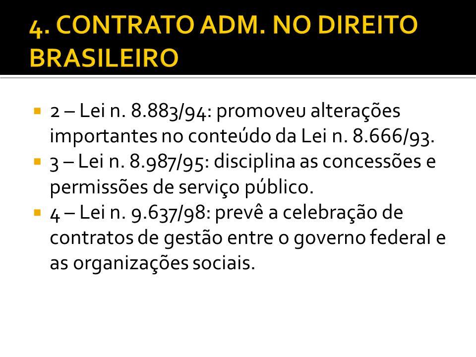 4. CONTRATO ADM. NO DIREITO BRASILEIRO