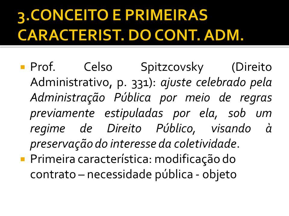 3.CONCEITO E PRIMEIRAS CARACTERIST. DO CONT. ADM.
