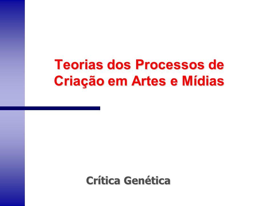Teorias dos Processos de Criação em Artes e Mídias