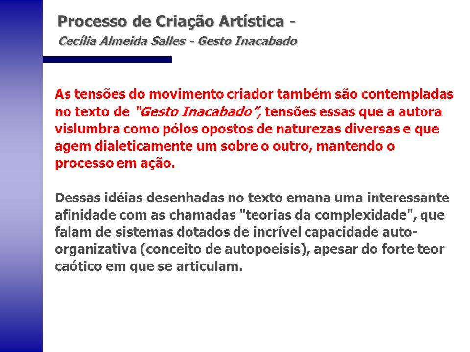 Processo de Criação Artística - Cecília Almeida Salles - Gesto Inacabado