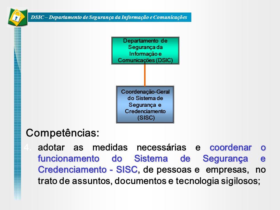 DSIC – Departamento de Segurança da Informação e Comunicações