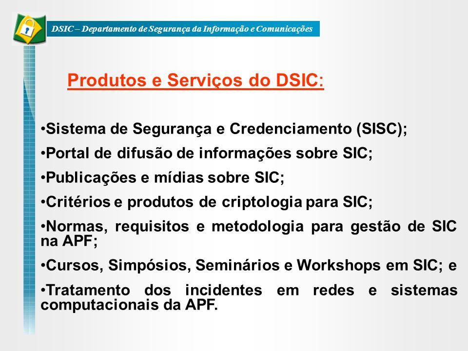 Produtos e Serviços do DSIC: