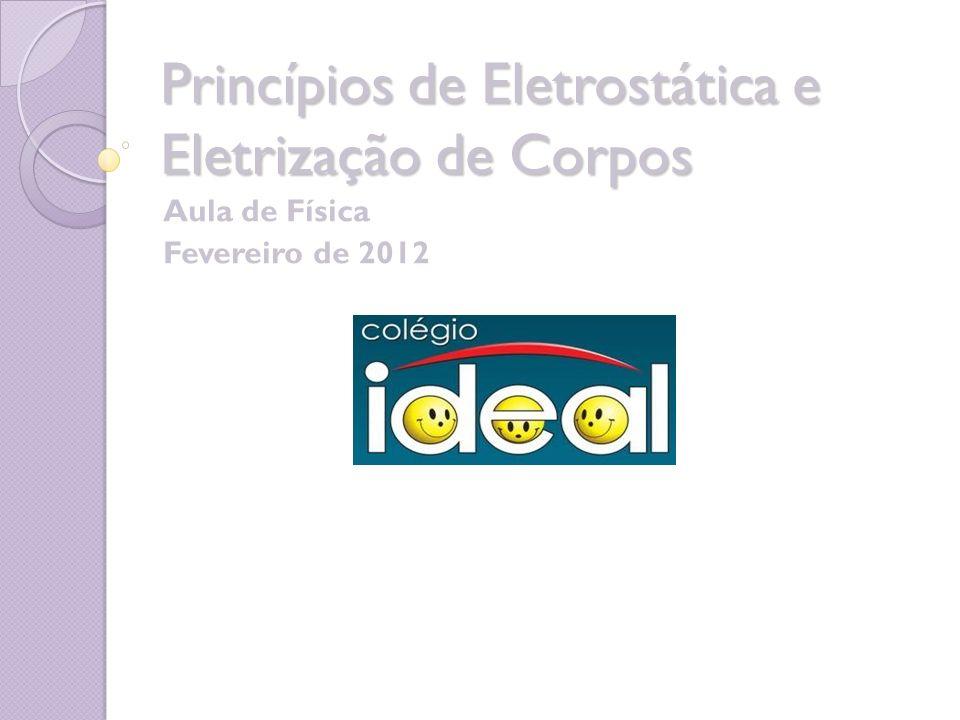 Princípios de Eletrostática e Eletrização de Corpos