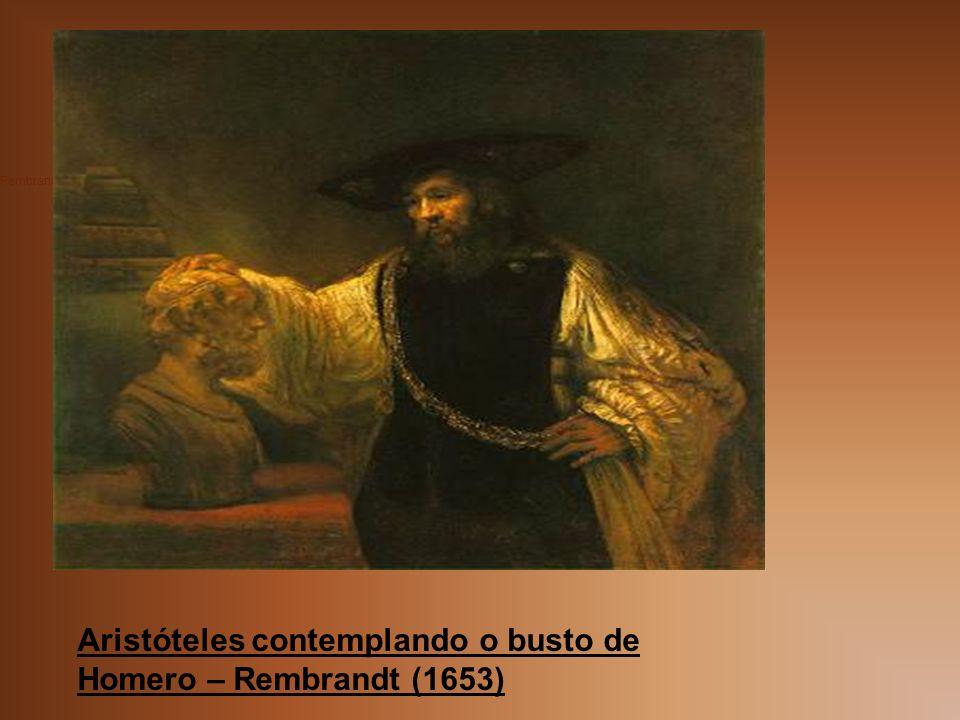 Aristóteles contemplando o busto de Homero – Rembrandt (1653)