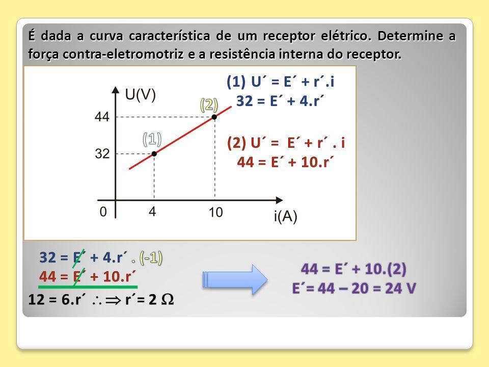 U´ = E´ + r´.i 32 = E´ + 4.r´ (2) (1) (2) U´ = E´ + r´ . i