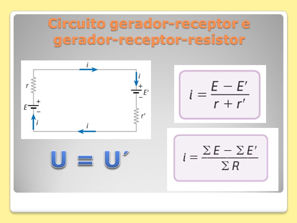 Circuito gerador-receptor e gerador-receptor-resistor