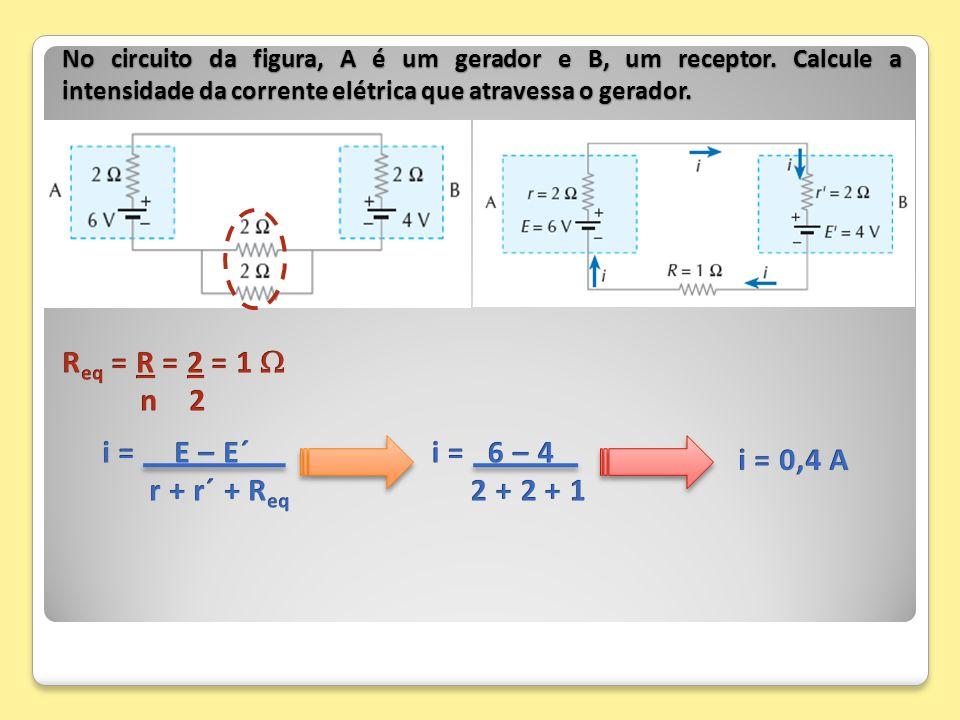 Req = R = 2 = 1  n 2 i = E – E´ r + r´ + Req i = 6 – 4 2 + 2 + 1