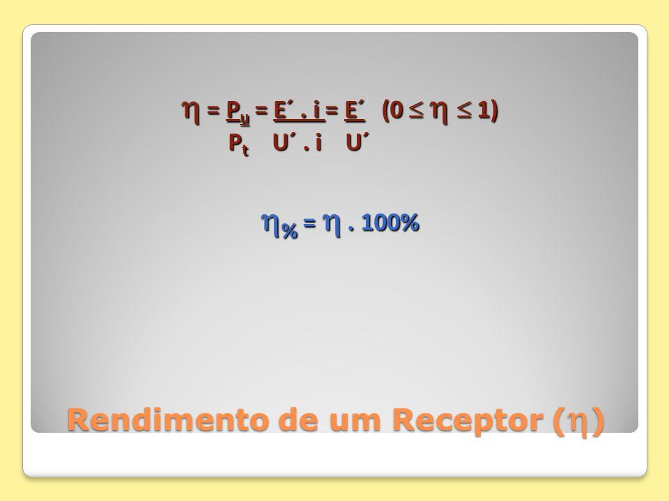 Rendimento de um Receptor ()