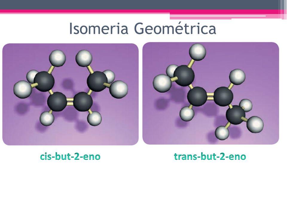 Isomeria Geométrica cis-but-2-eno trans-but-2-eno