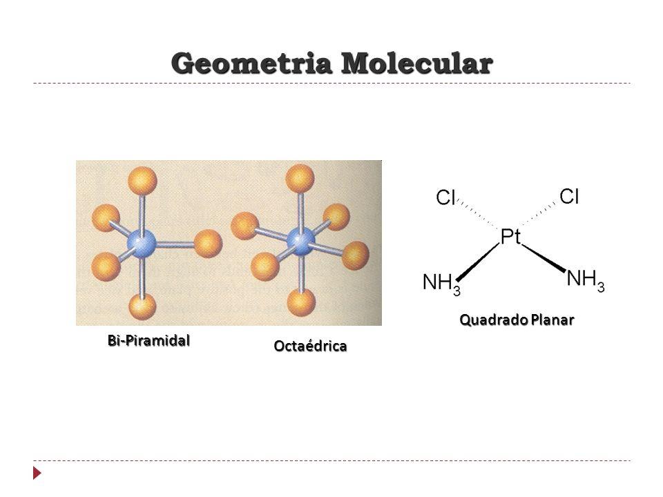 Geometria Molecular Quadrado Planar Bi-Piramidal Octaédrica