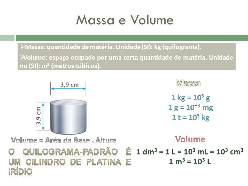 Volume = Aréa da Base . Altura