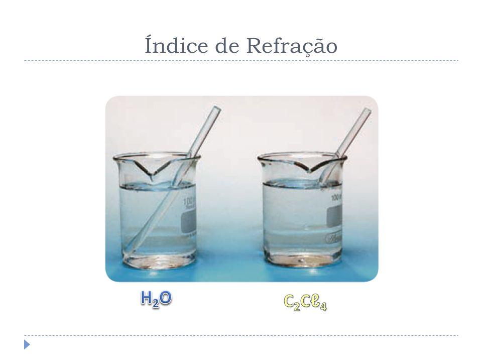 Índice de Refração H2O C2Cℓ4