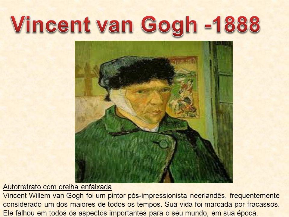 Vincent van Gogh -1888 Autorretrato com orelha enfaixada