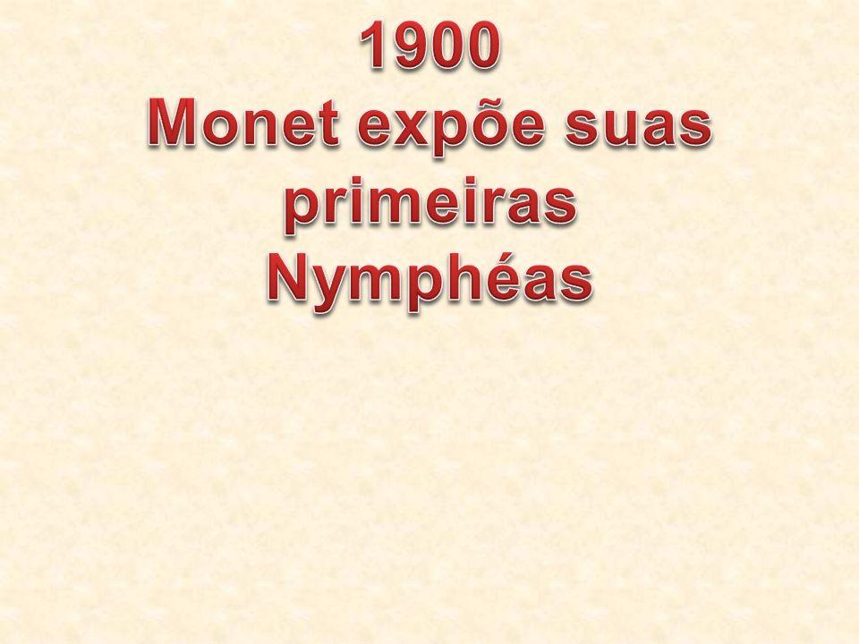 Monet expõe suas primeiras