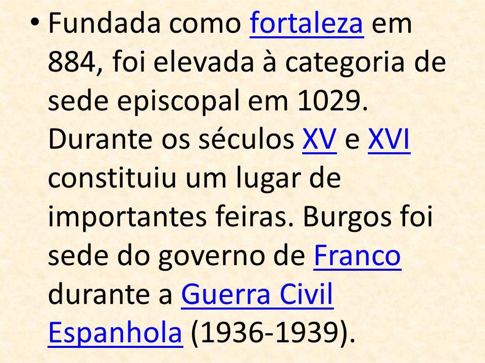 Fundada como fortaleza em 884, foi elevada à categoria de sede episcopal em 1029.