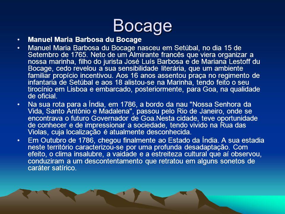Bocage Manuel Maria Barbosa du Bocage
