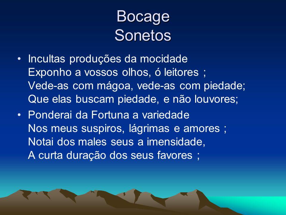 Bocage Sonetos