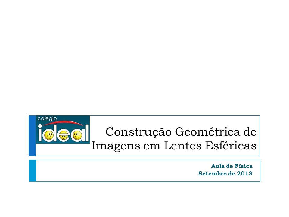 Construção Geométrica de Imagens em Lentes Esféricas