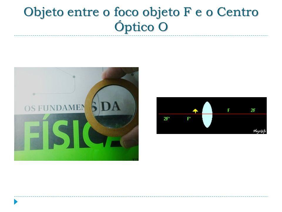 Objeto entre o foco objeto F e o Centro Óptico O