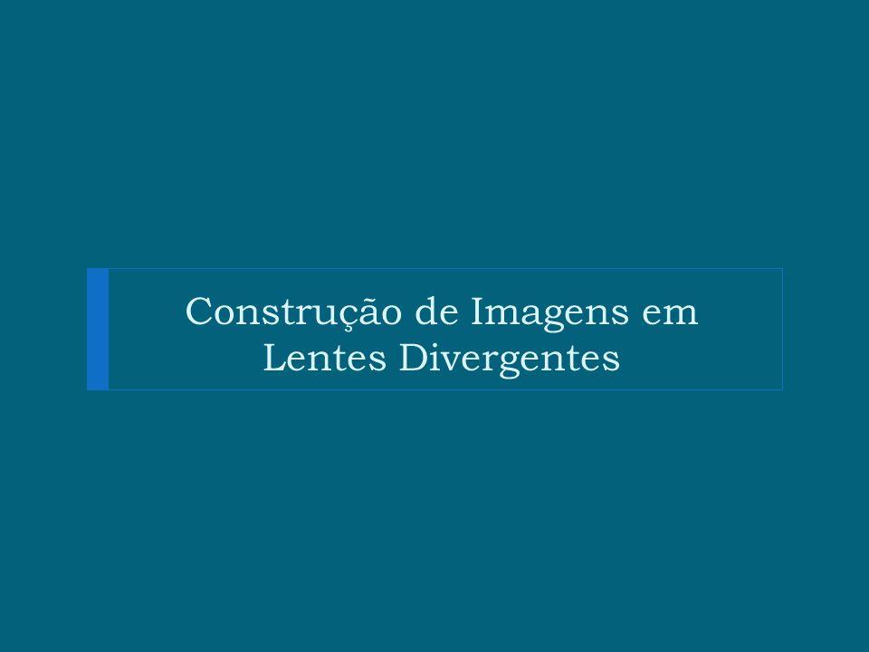 Construção de Imagens em Lentes Divergentes