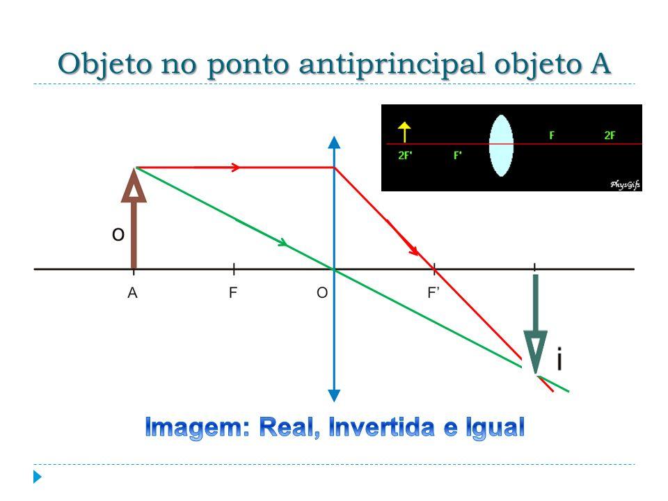 Objeto no ponto antiprincipal objeto A