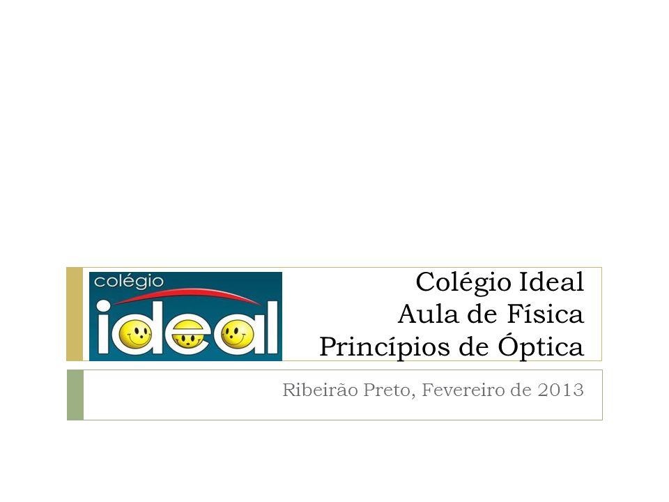 Colégio Ideal Aula de Física Princípios de Óptica