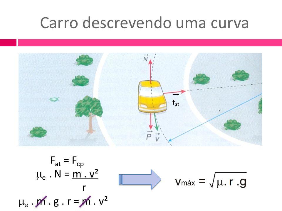 Carro descrevendo uma curva