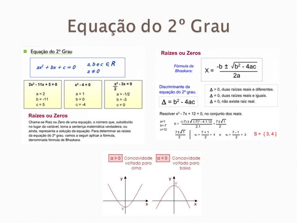 Equação do 2º Grau
