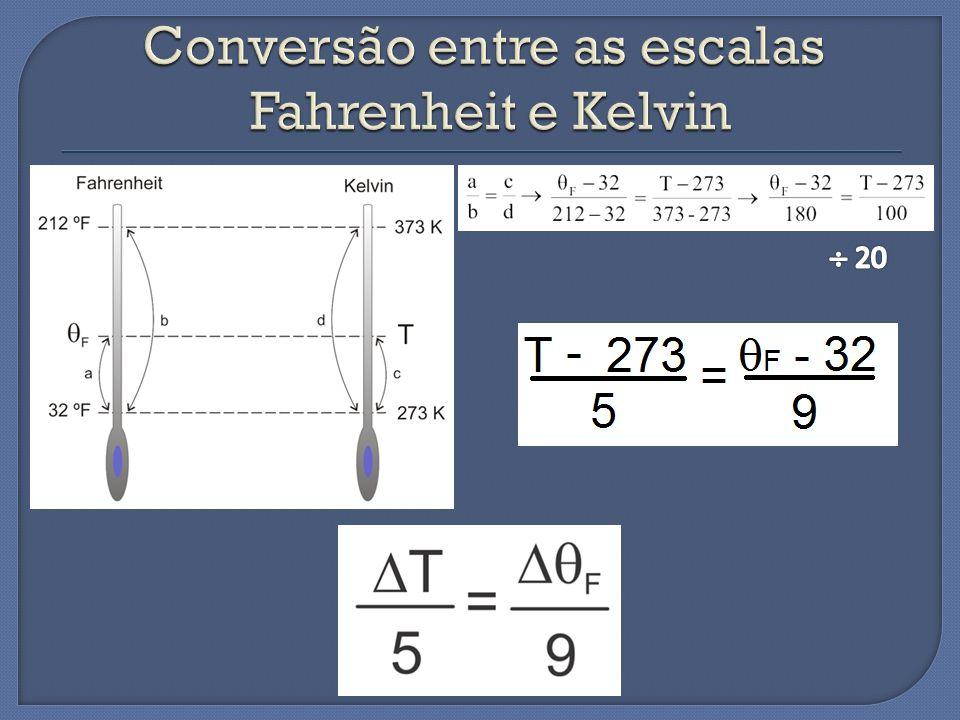Conversão entre as escalas Fahrenheit e Kelvin
