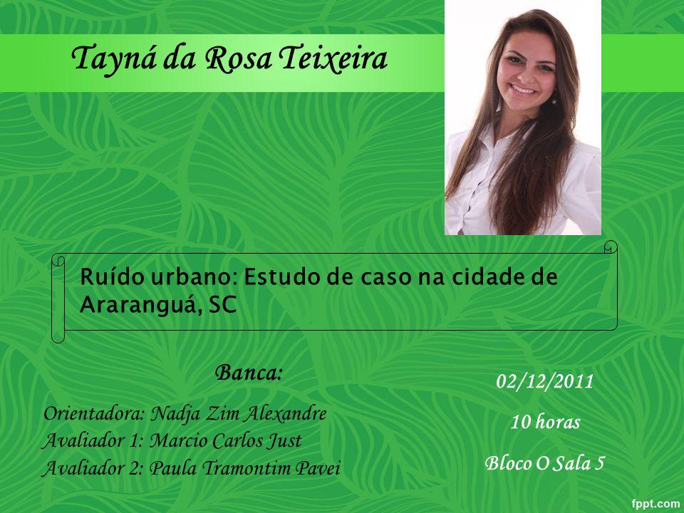Tayná da Rosa Teixeira Banca: