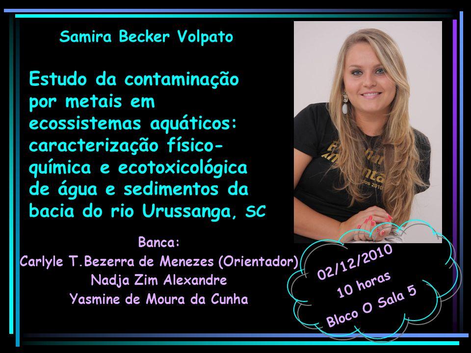 Carlyle T.Bezerra de Menezes (Orientador) Yasmine de Moura da Cunha