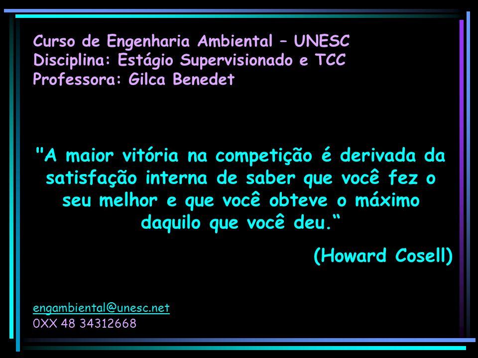 Curso de Engenharia Ambiental – UNESC