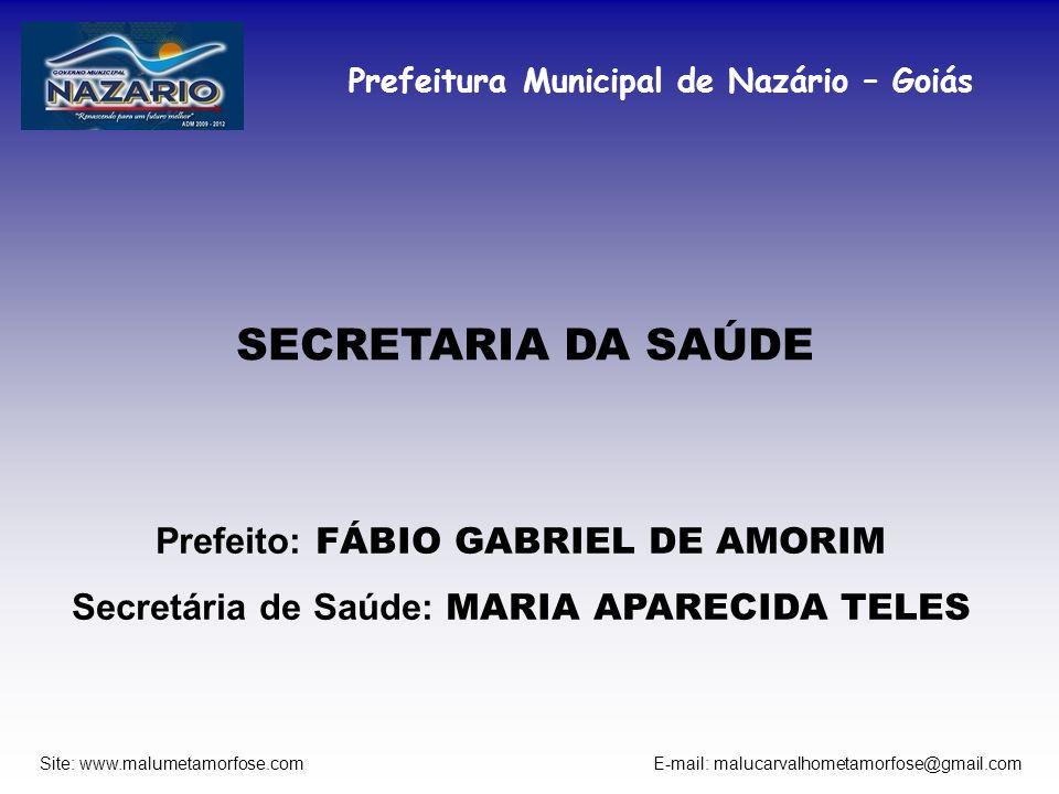 SECRETARIA DA SAÚDE Prefeito: FÁBIO GABRIEL DE AMORIM
