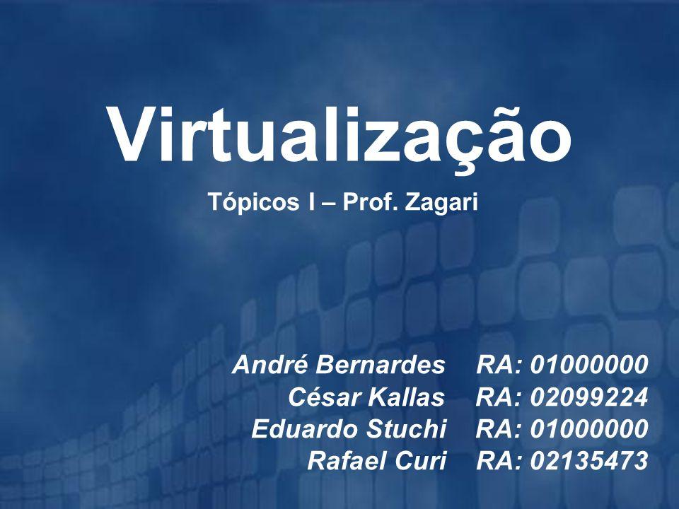 Virtualização André Bernardes RA: 01000000 César Kallas RA: 02099224