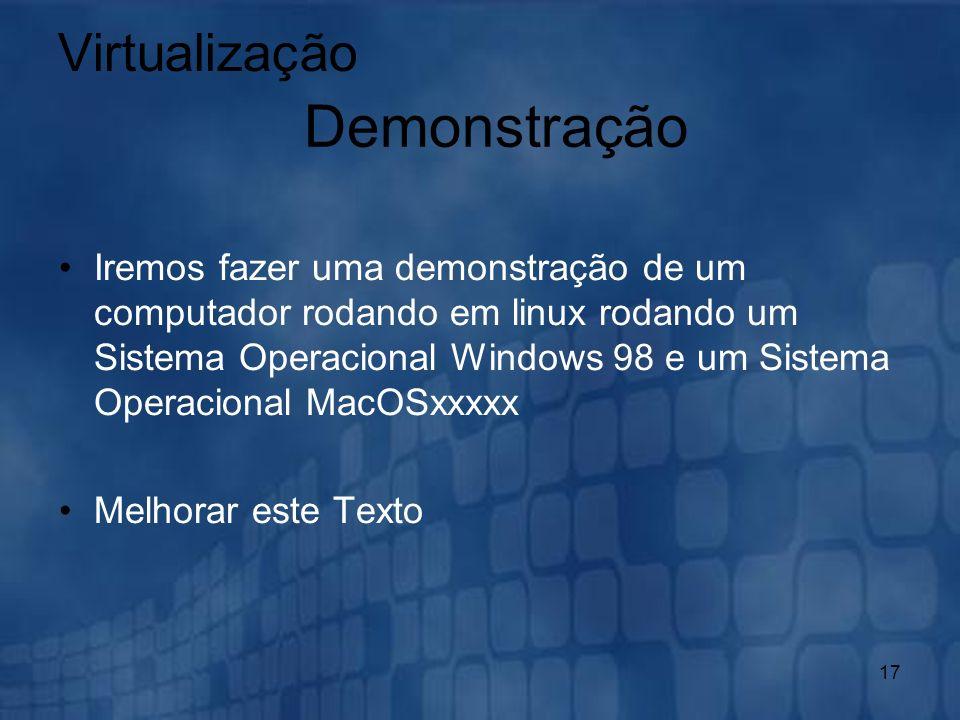 Demonstração Virtualização