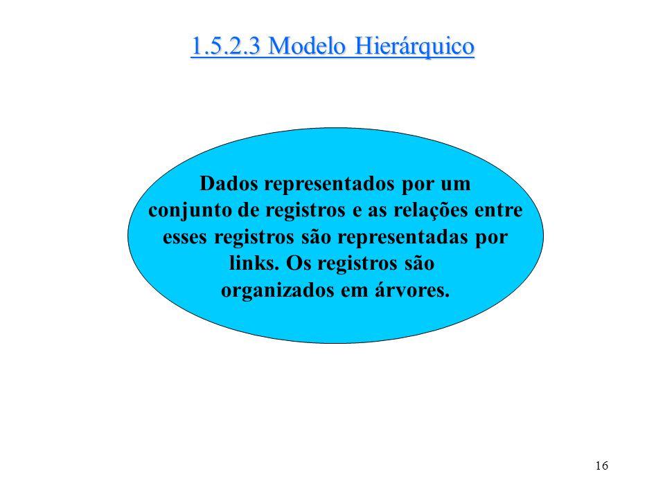 1.5.2.3 Modelo Hierárquico Dados representados por um