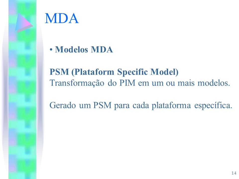 MDA Modelos MDA PSM (Plataform Specific Model)