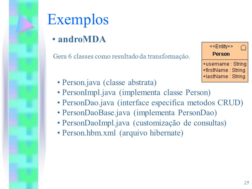 Exemplos androMDA Person.java (classe abstrata)