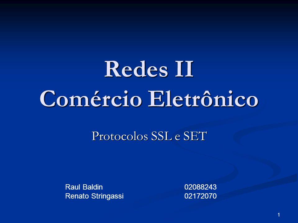 Redes II Comércio Eletrônico