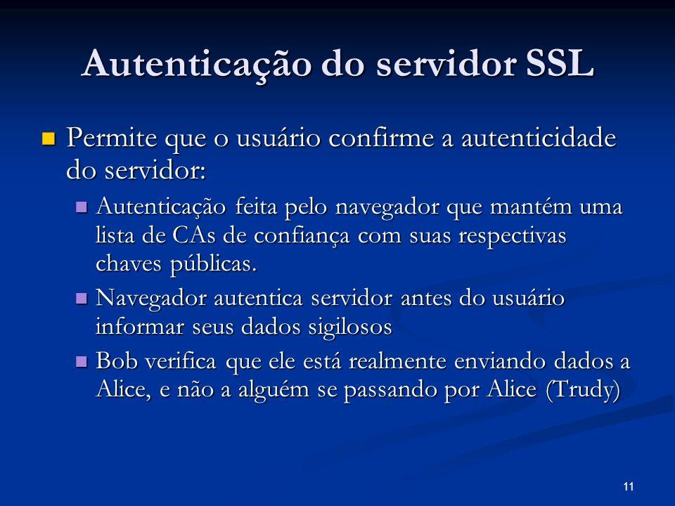 Autenticação do servidor SSL