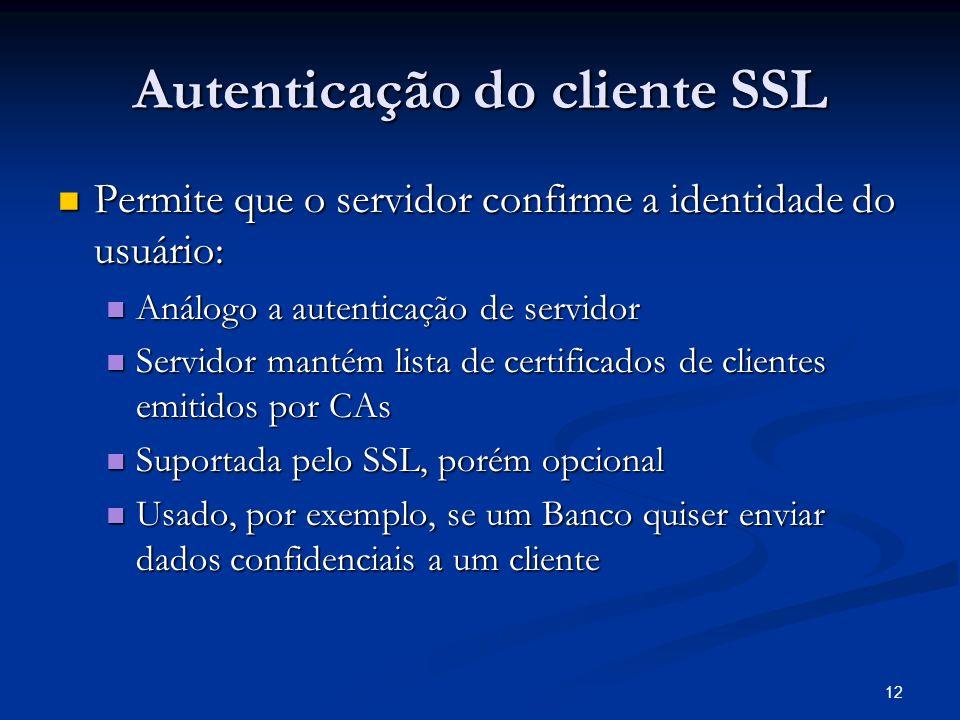 Autenticação do cliente SSL