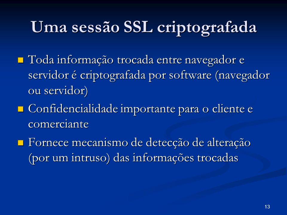 Uma sessão SSL criptografada