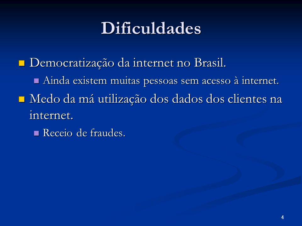 Dificuldades Democratização da internet no Brasil.